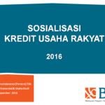Materi Kredit Usaha Rakyat & Agen 46 dari BNI46 8 November 2016